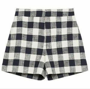 ❤ Zara Plaid Shorts